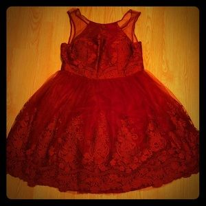 Chi Chi London Red Lace Dress
